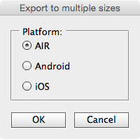 Export to Multiple Sizes